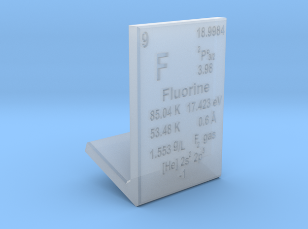 Fluorine Element Stand in Smooth Fine Detail Plastic