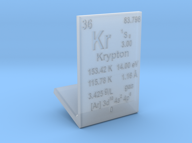 Krypton Element Stand in Smooth Fine Detail Plastic