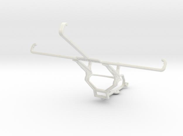 Controller mount for Steam & Asus Memo Pad 7 ME176 in White Natural Versatile Plastic