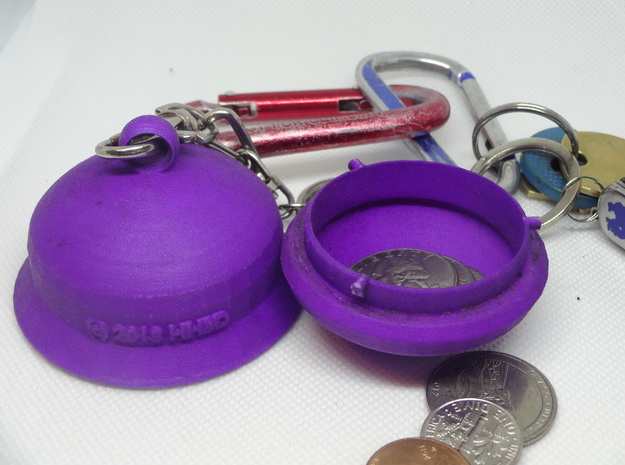Secure and Easy Keyring Fob Pill Capsule - Small