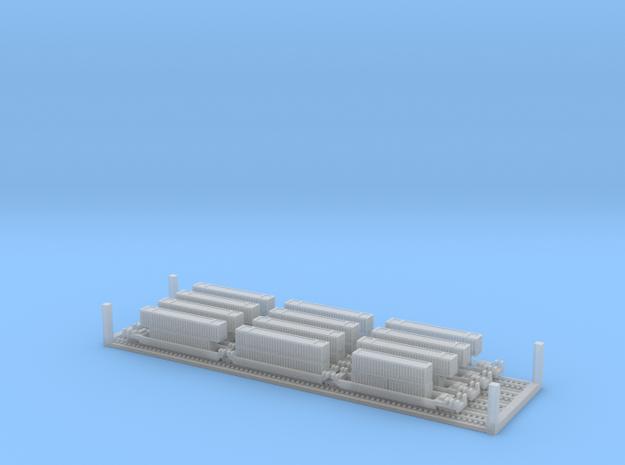 Maxi-Stack Inter-Modal Train Wagons (1:1250)
