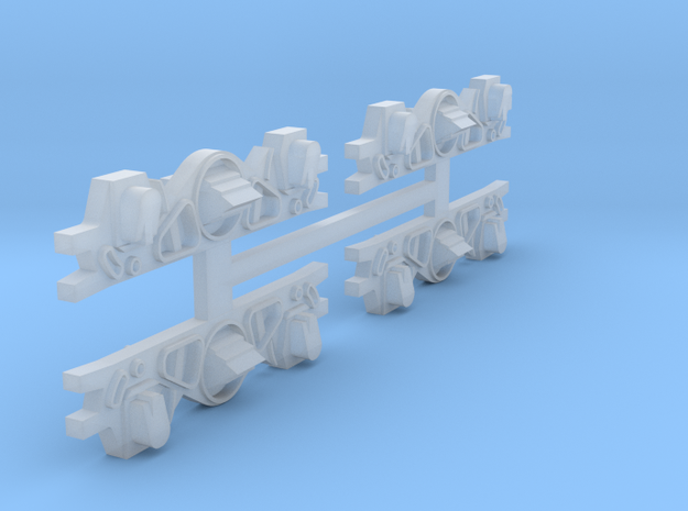 HO Taylor Truck Sideframes for Reading MU Cars (fi in Smooth Fine Detail Plastic