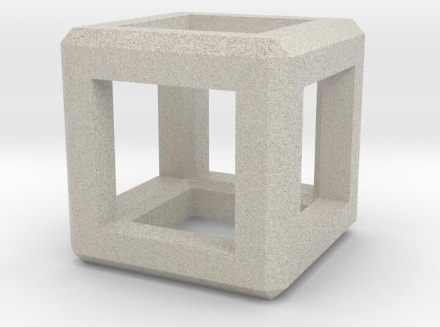 Cube Pendant in Natural Sandstone