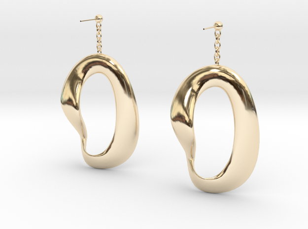 earing in 14k Gold Plated Brass
