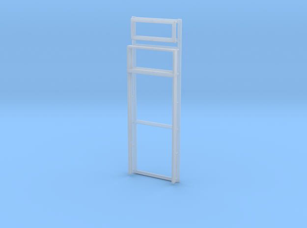 Door Frame with Transom Window 36x80-01 1/35 in Smooth Fine Detail Plastic
