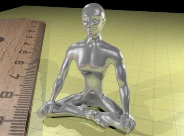 Siddhasana XS 3d printed silver rendering