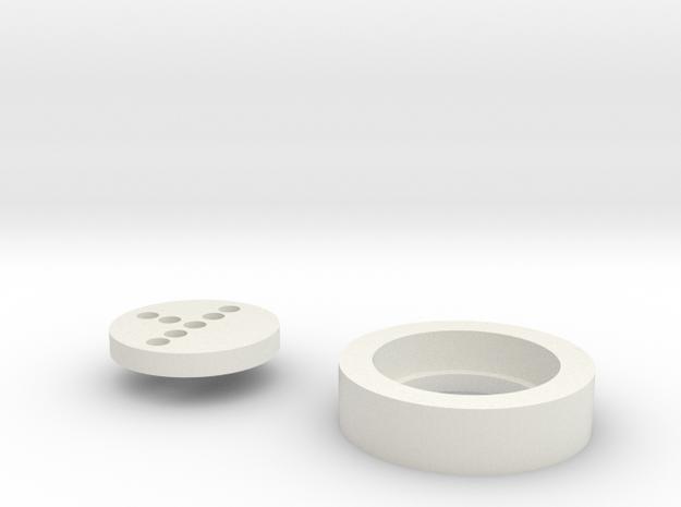 Thin Neck Neopixel adapter LS6 in White Natural Versatile Plastic