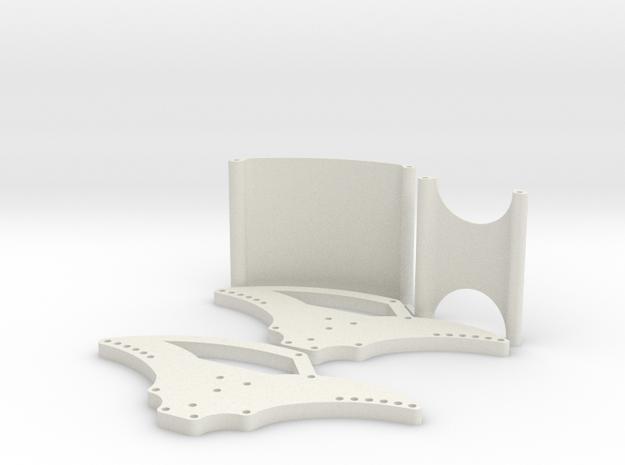Basher Rocksta 4mm Spider Chassis V2  in White Natural Versatile Plastic
