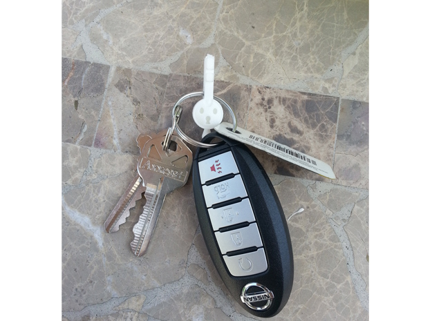 Klefki Key Ring Attachment in White Strong & Flexible