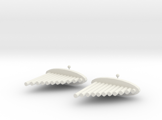 Pai Xiao Earrings in White Natural Versatile Plastic