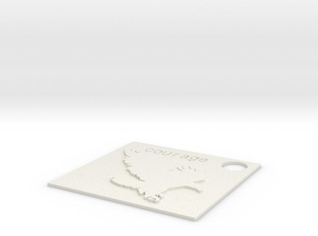 Eagle Charm.stl in White Natural Versatile Plastic