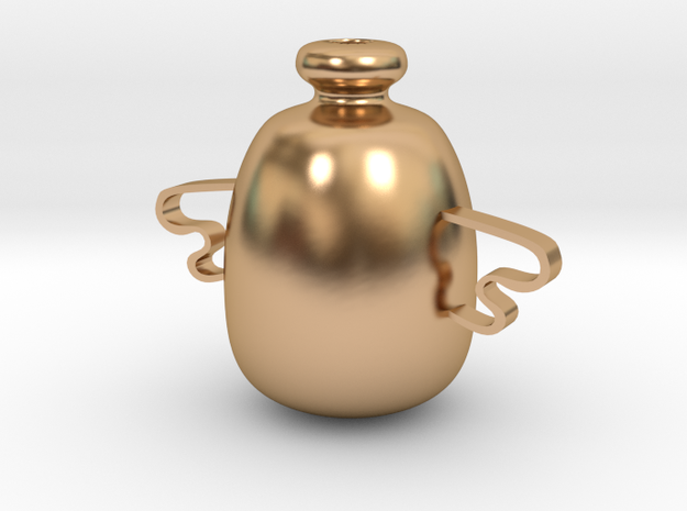 Wing kettle in Polished Bronze
