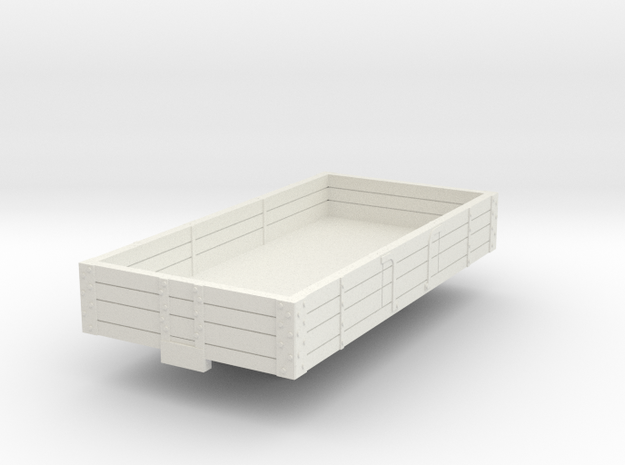 0-76-ford-3pl-baggage-wagon in White Natural Versatile Plastic