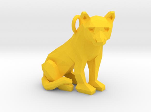 Cougar Pendant in Yellow Processed Versatile Plastic