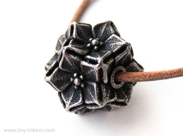 Floral Bead/Charm - Dodecahedron