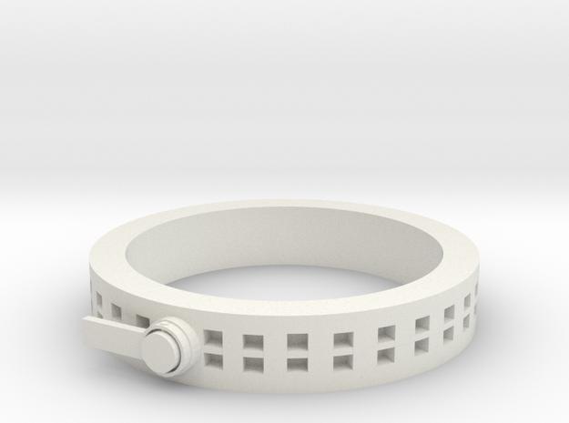 Zipper ring in White Natural Versatile Plastic: 1.5 / 40.5