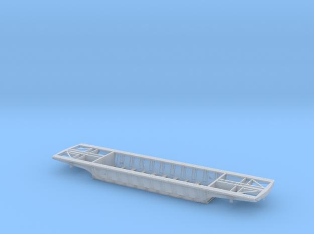 PRR F25 Depressed Center Flatcar in HO no decking in Smooth Fine Detail Plastic