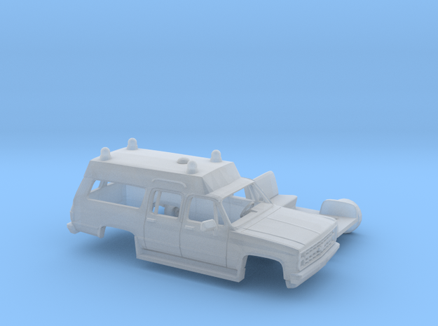 1/160 1980-88 Chevrolet Suburban Ambulance Kit in Smooth Fine Detail Plastic