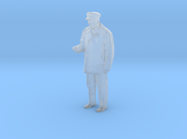 HO/O Motorman / operator figure with right arm rai in Smooth Fine Detail Plastic: 1:48 - O