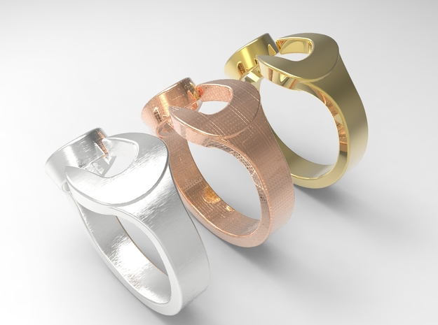 Spanner Ring Size 7 3d printed