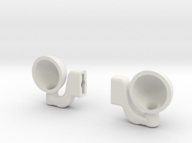 Headlight-1 in White Natural Versatile Plastic