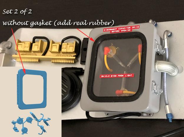 1:8 BTTF Delorean Flux Capacitor set 2 of 2 WOG in Smoothest Fine Detail Plastic