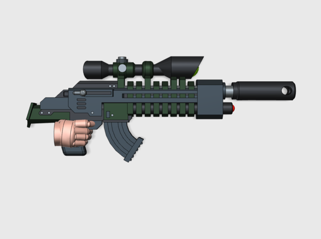 10x Scout SniperRifle-HP1 in Smooth Fine Detail Plastic