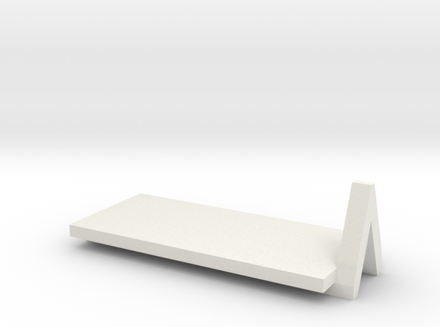1 to 285 mod bed moduals 4 axle flat rack in White Natural Versatile Plastic