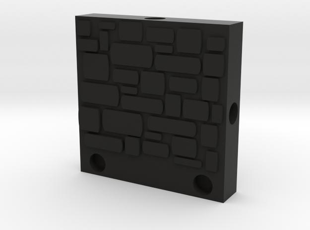 ET Stone Wall in Black Natural Versatile Plastic