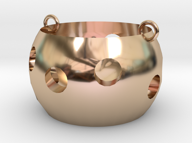 Cute grotesque in 14k Rose Gold