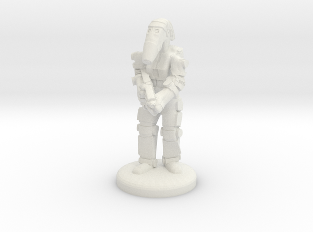 Battle Droid 20mm tall in White Natural Versatile Plastic