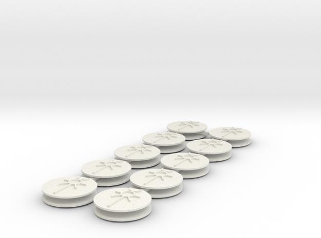 SciFi Ankh 30mm #1 in White Natural Versatile Plastic