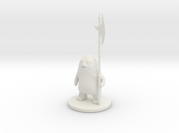 Saga Ghüs figure in White Natural Versatile Plastic