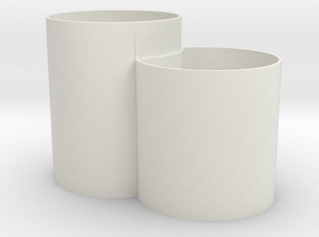 Vase Mod 005 in White Natural Versatile Plastic