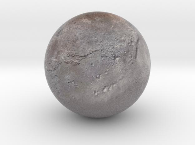 "Charon /12"" Earth globe addon in Natural Full Color Sandstone"