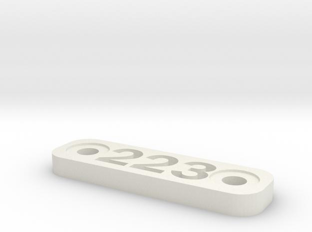 Caliber Marker - MLOK - 223 in White Natural Versatile Plastic