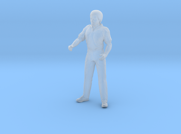 Man Standing Arms Partially Bent in Smoothest Fine Detail Plastic: 1:64 - S