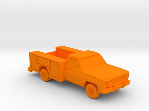 Utility Truck 1970's (S) in Orange Processed Versatile Plastic: 1:64 - S