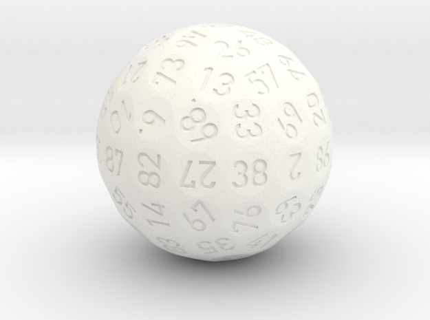 Novess d90 - 2018 Version in White Processed Versatile Plastic