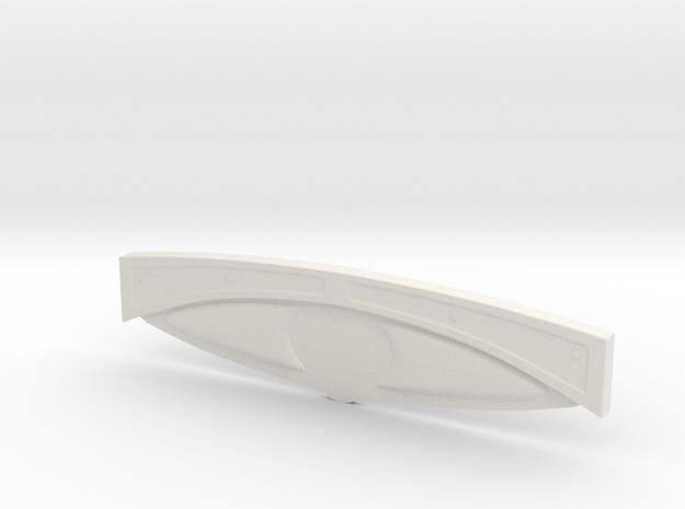 1/16 '30 Ford Dashboard in White Natural Versatile Plastic