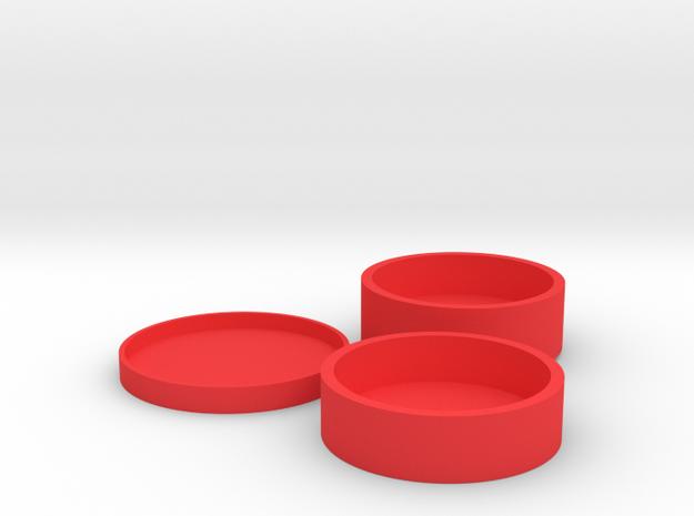 Okito Boston Set - Australia 50 Cent (Round) in Red Processed Versatile Plastic