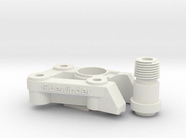 CR-10 Mount kit for the Nimble Sidewinder in White Natural Versatile Plastic