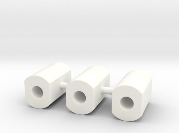 CFTBL Snackbar Mod v1 Post set in White Processed Versatile Plastic