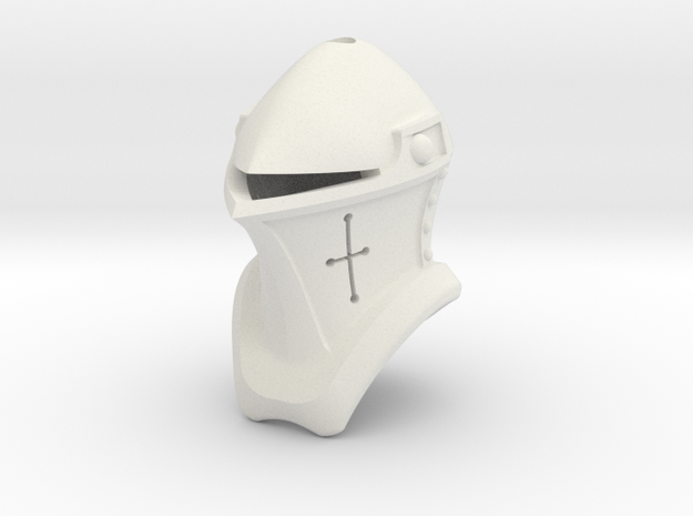 Frog Mouth Helm (For Crest) in White Natural Versatile Plastic: Small