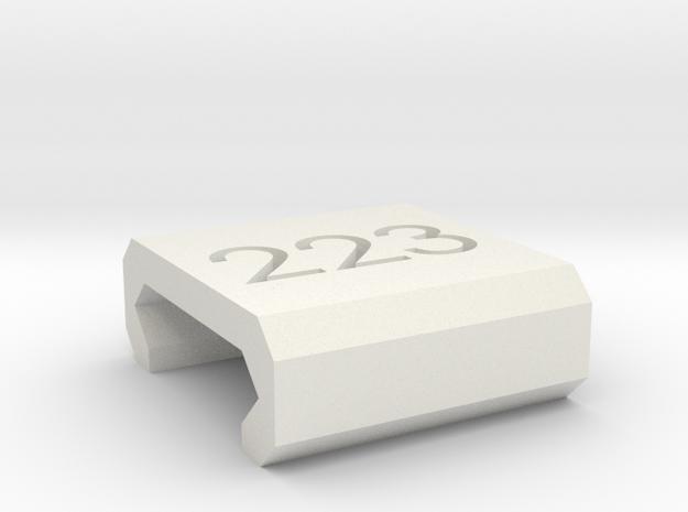 Caliber Marker - Picatinny - 223 in White Natural Versatile Plastic
