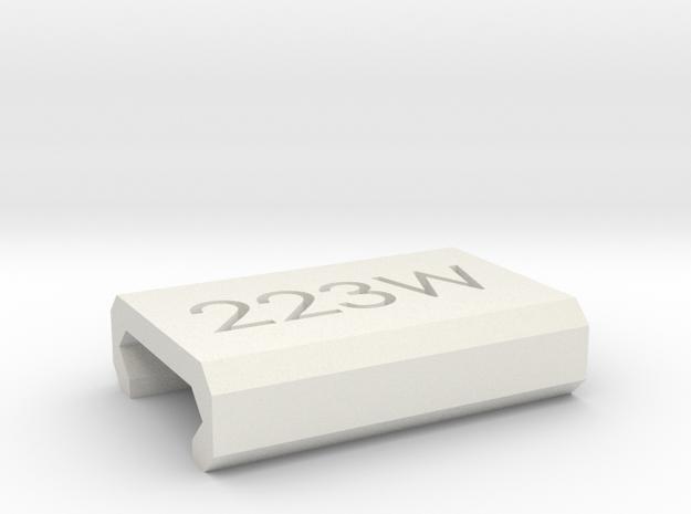 Caliber Marker - Picatinny - 223Wylde in White Natural Versatile Plastic