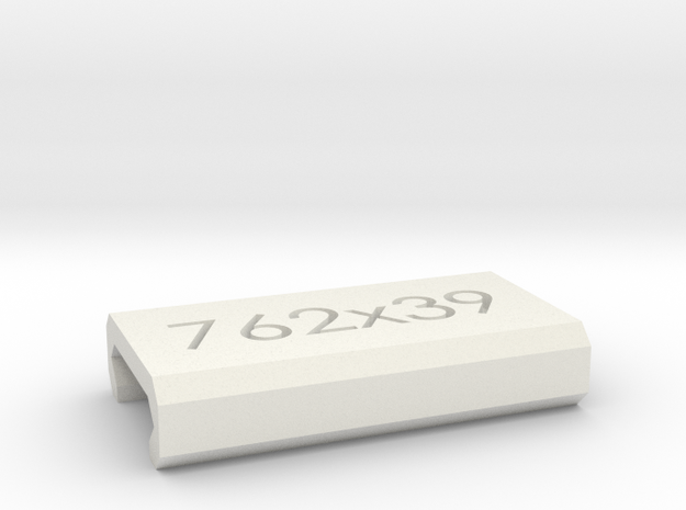 Caliber Marker - Picatinny - 762x39 in White Natural Versatile Plastic