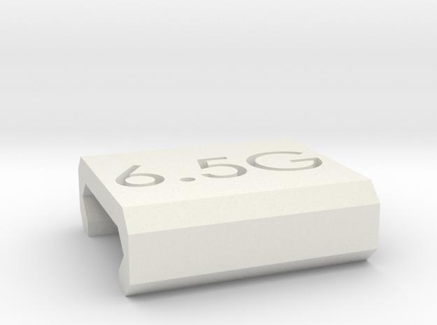 Caliber Marker - Picatinny - 6.5 Grendel in White Natural Versatile Plastic