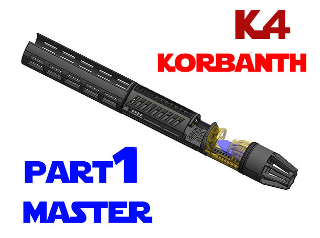 Korbanth / Parks K4 - Master Chassis Part1 in White Natural Versatile Plastic