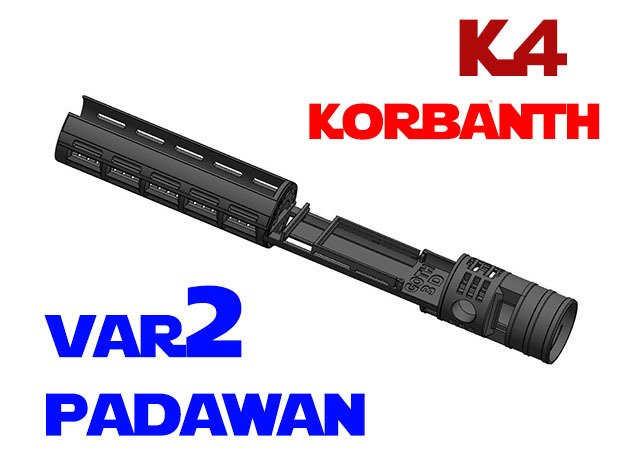 Korbanth / Parks K4 - Padawan All.In.One Var2 in White Natural Versatile Plastic